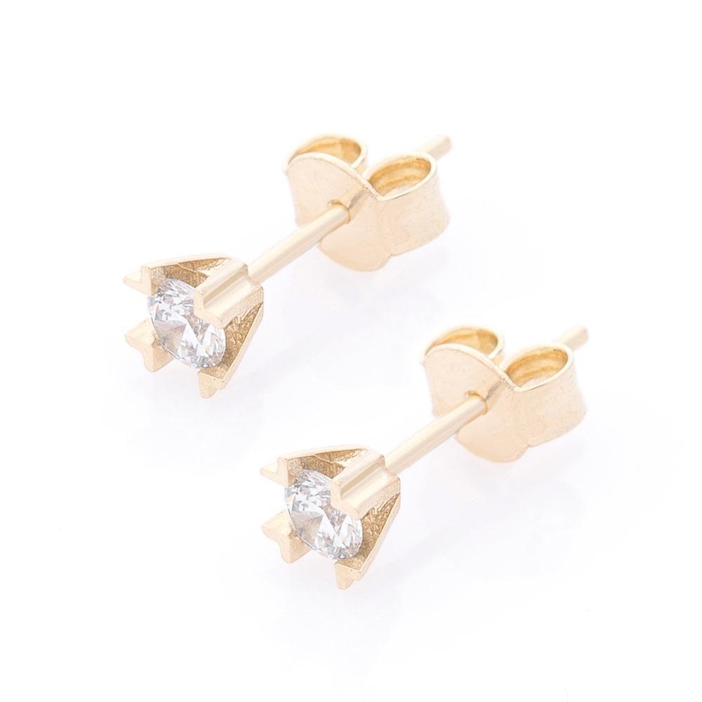 Золоті сережки-цвяшки (фіаніти) гс05841