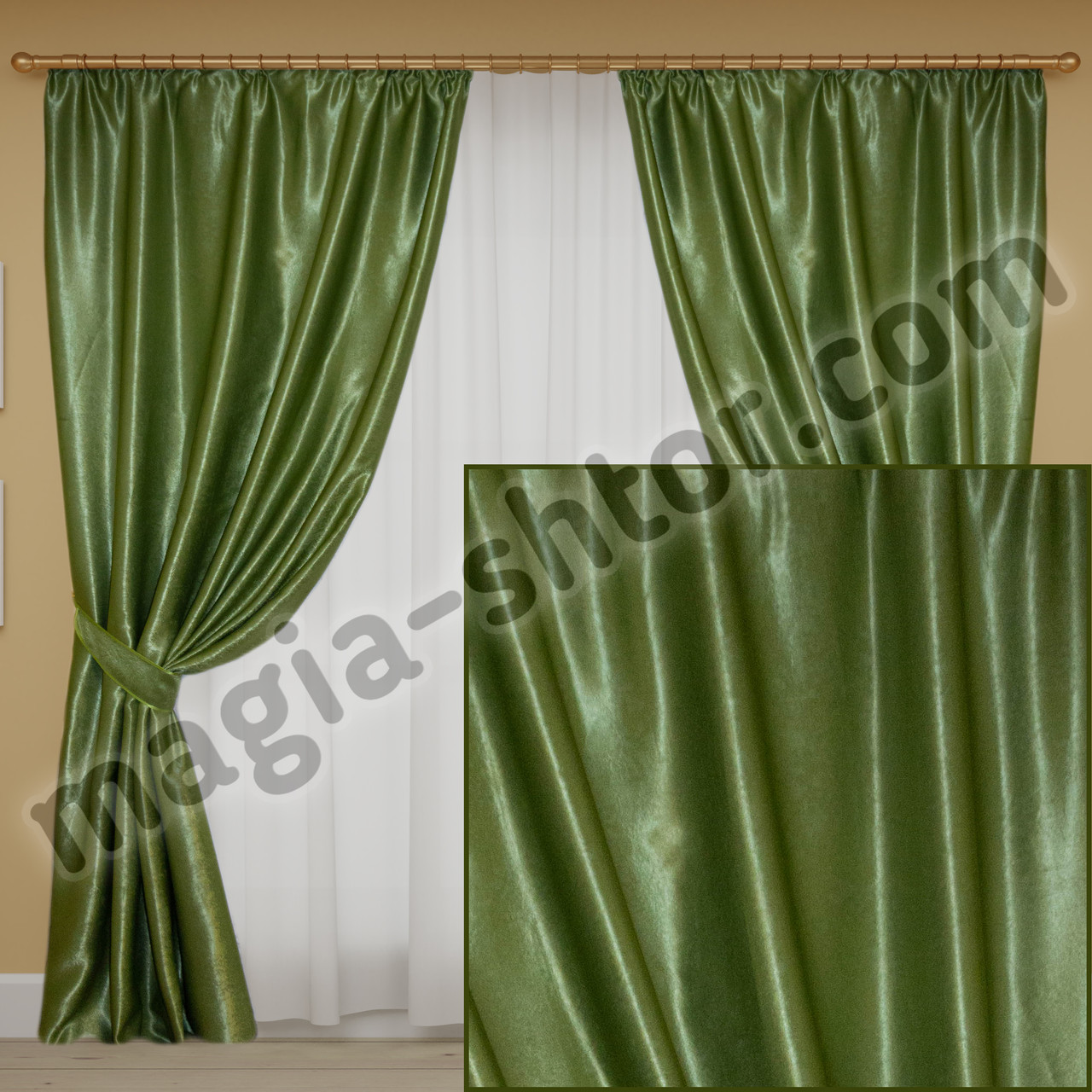 Готовые шторы блэкаут. Цена за 2 портьеры с подхватами