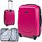 Чемодан дорожный на 4 колесах Wings 912 Большой (L) Розовый, фото 4