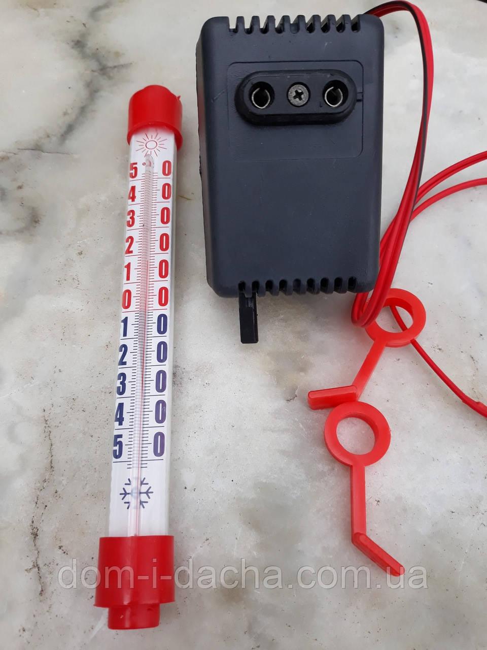 Электронный терморегулятор в инкубатор с градусником