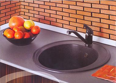 Кухонная мойка круглая (верхний монтаж)