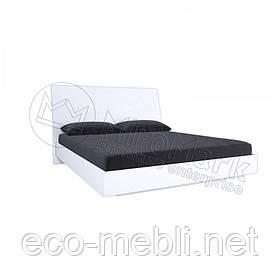 Двоспальне ліжко 160х200 без каркасу у спальню Рома Білий Глянець Міромарк
