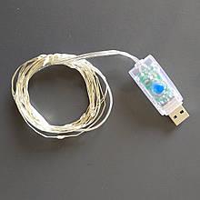 USB Led шнур с контроллером «YL-U3» 5м 50LED теплый свет