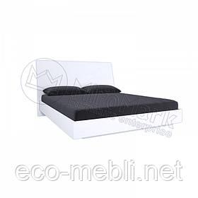 Двоспальне ліжко 180х200 без каркасу у спальню Рома Білий Глянець Міромарк