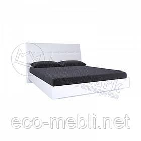 Двоспальне ліжко 180х200 мяка спинка без каркасу у спальню Рома Білий Глянець Міромарк