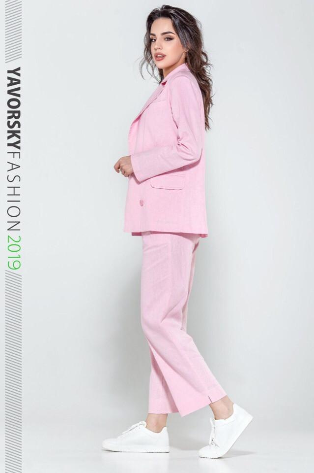 Женский костюм из льна 42--52 цвета разные розовый