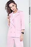 Женский костюм из льна 42--52 цвета разные розовый, фото 4