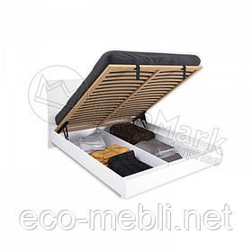 Двоспальне ліжко 160х200 з підйомним механізмом у спальню Рома Білий Глянець Міромарк