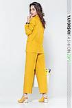 Женский костюм из льна 42-52 цвета разные желтый, фото 2