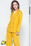 Женский костюм из льна 42-52 цвета разные желтый, фото 3