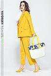 Женский костюм из льна 42-52 цвета разные желтый, фото 4