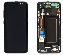 Дисплей (LCD) Samsung GH97-20470A G955F Galaxy S8 plus с сенсором чёрный с рамкой сервисный