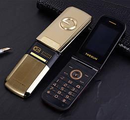 Мобільний телефон Tkexun G3 Flip Gold 1200 маг