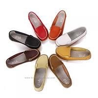 Стильные кожаные мокасины Four Seasons. Кожаные слипоны, балетки. Женские кожаные туфли.
