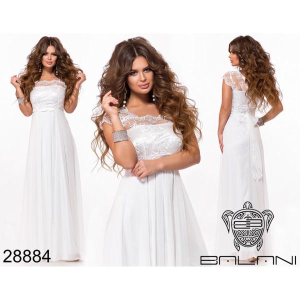 """Длинное вечернее платье """"Кира"""" (белое)"""