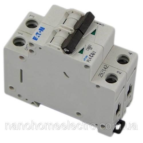 Автоматический выключатель Eaton-Moeller PL4-C 2P 6A  - NanohomeElectro в Днепре