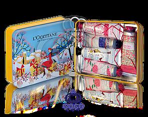 Подарунковий набір кремів для рук l'occitane (блакитний)