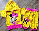 Дитячий літній костюм з капюшоном Мінні для дівчинки, фото 2