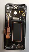 Дисплей (LCD) Samsung GH97-21691A G965 S9 Plus с сенсором чёрный сервисный с рамкой