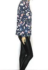 Жіноча літня блузa сорочка з атлас шифону Flexi Туреччина, фото 3