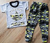 Детский костюм футболка и штаны спортивные Адидас камуфляж и Найк