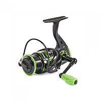 Катушка безинерционная для удилища Feeder Concept Pilot 7 3000FD / Катушка для рыбалки черно-зеленого цвета