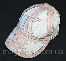 Кепка для девочки 8-10 лет. Цвет: розовый с белым. Р-р 52.