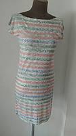 Платье футляр морская тематика. Прекрасный вариант для пляжа или другого повода. р.44, код 1506М