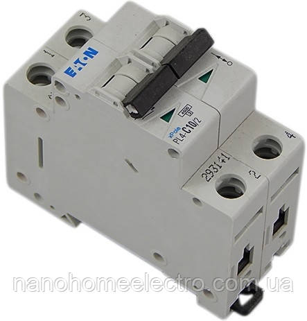 Автоматический выключатель Eaton-Moeller PL4-C 2P 10A  - NanohomeElectro в Днепре