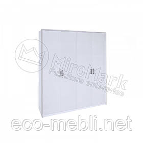 Розпашна шафа 4Д без дзеркала у спальню Рома Білий Глянець Міромарк