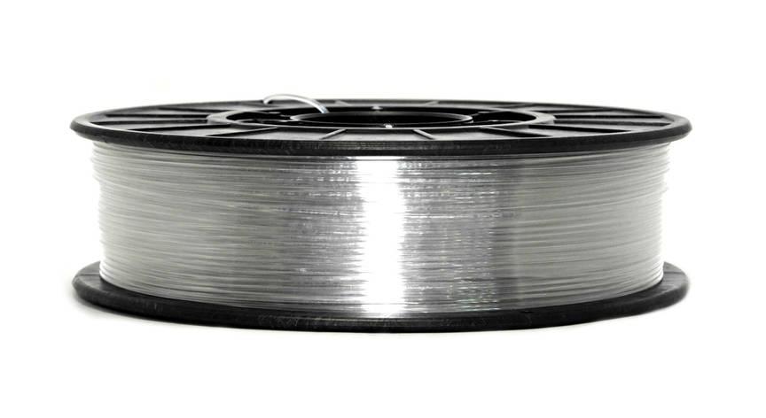 Нитка PETG (CoPET, ПЕТГ) пластик для 3D друку, Clear (1.75 мм/0.75 кг), фото 2