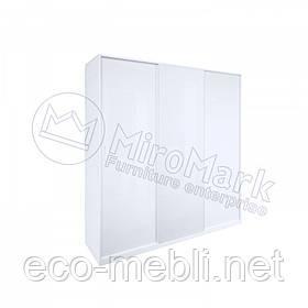 Шафа купе 3Д 2,0 м. Декор у спальню Рома Білий Глянець Міромарк
