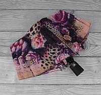 Стильный женский складной зонт полуавтомат Silver Rain 705-10, цветочный принт, фото 1