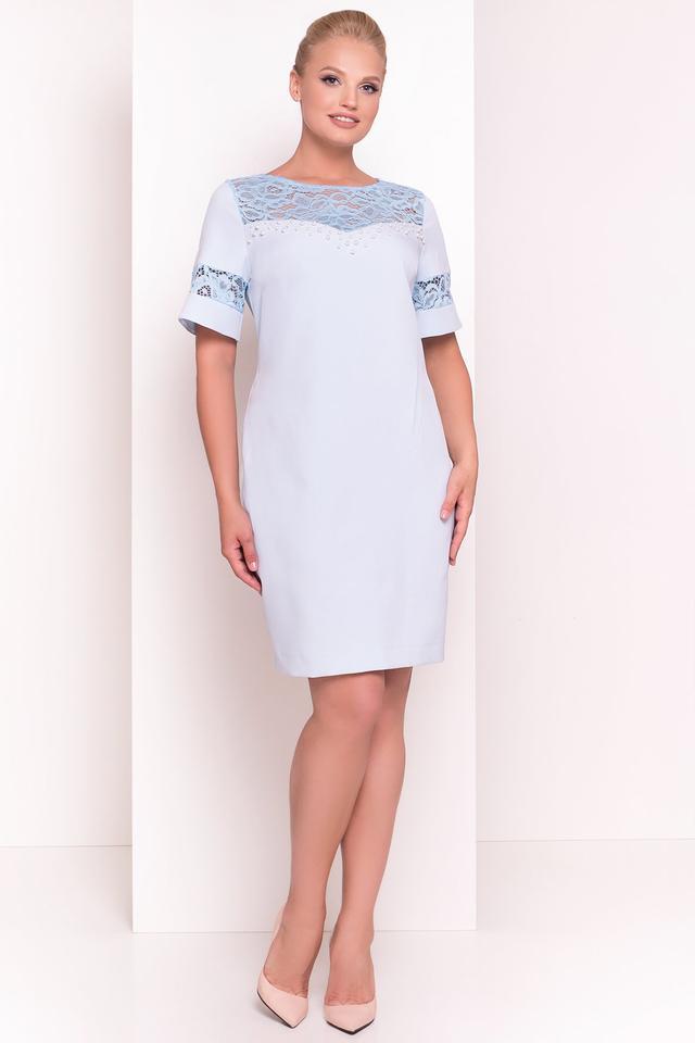 Фото Нарядного коктейльного батального платья Инна
