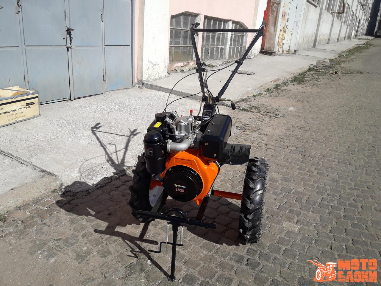 """Дизельный культиватор Forte 1350 колёса 12"""" (Оранжевый)"""