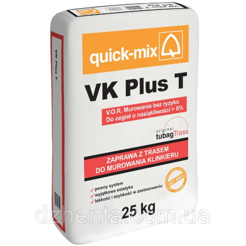 VK plus T Кладочный раствор V.O.R. для лицевого кирпича с водопоглощением больше 10%
