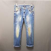 Потерті джинси для хлопчика пофарбовані колір синій