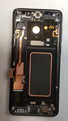 Дисплей (LCD) Samsung GH97-21691D G965 S9 Plus с сенсором голубой сервисный с рамкой, фото 2