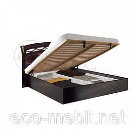 Двоспальне ліжко 160х200 з підйомним механізмом у спальню Роселла Перо Рубіно Міромарк