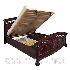 Двоспальне ліжко 160х200 Люкс з підйомним механізмом у спальню Роселла Перо Рубіно Міромарк