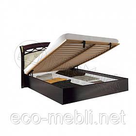 Двоспальне ліжко 160х200 мяка спинка з підйомним механізмом у спальню Роселла Перо Рубіно Міромарк