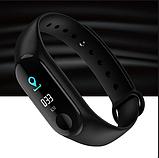 Фитнес браслет M3 в стиле Xiaomi Mi Band 3 (Smart Band) Black Умный браслет Фитнес трекер, фото 5