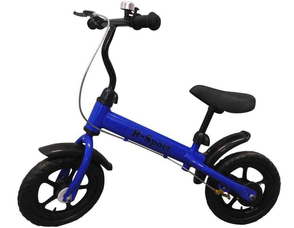 Беговел для ребенка от 2 3 4 лет R-Sport R8 колеса 12 пена тормоз синий