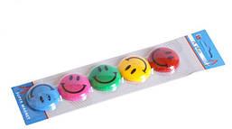 Магниты для досок и флипчартов 5 шт. цветные, круглые.