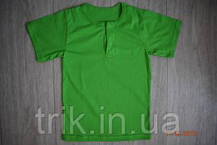Футболка зеленая для девочки застежка-кнопка, фото 2