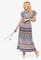 Нежное комфортное женское длинное платье в пол из Софта 90367, фото 1