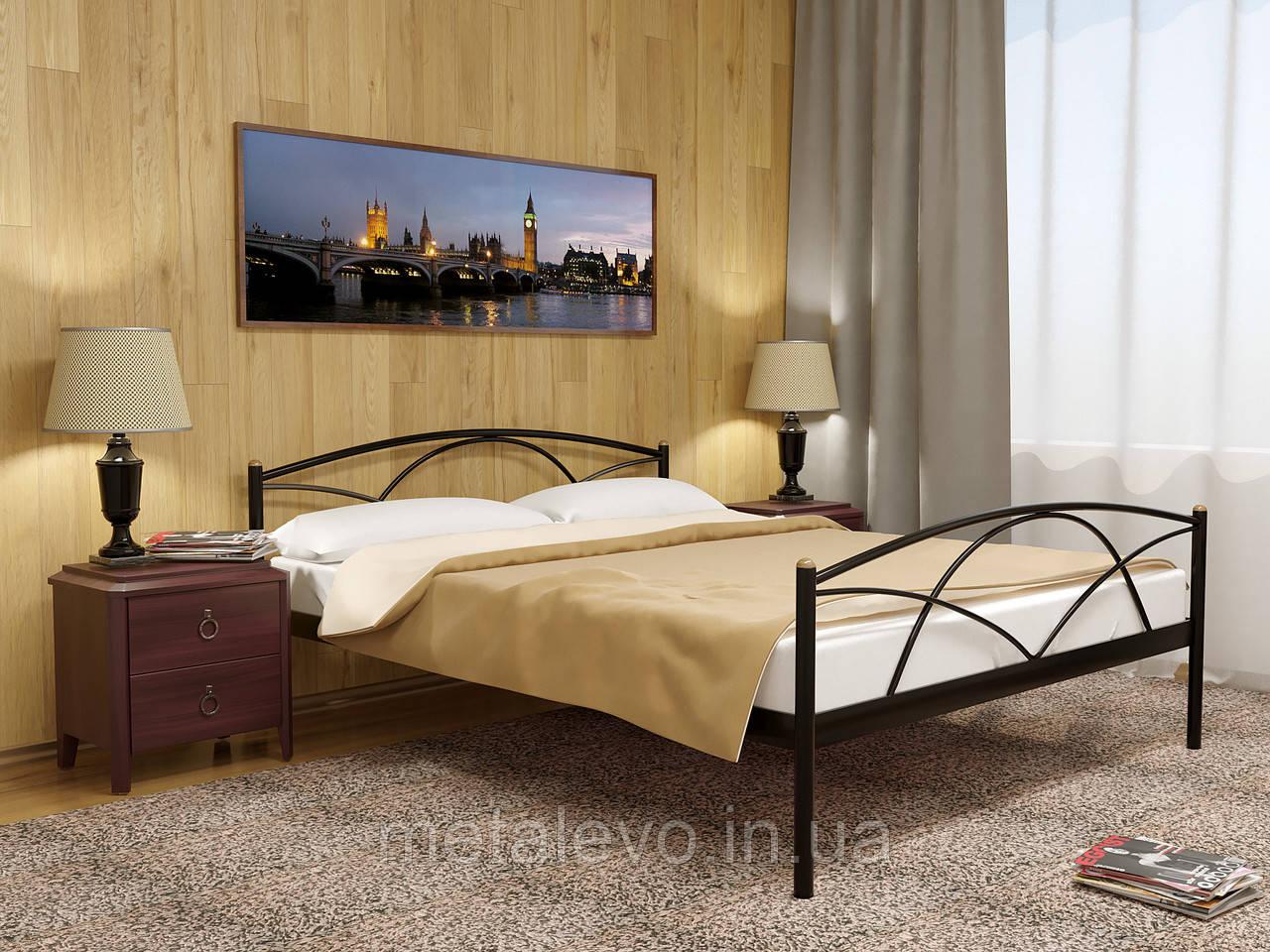Металлическая кровать с изножьем ПАЛЕРМО-2 ТМ Метакам