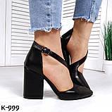 Эффектные, изящные кожаные и замшевые туфли на каблучке, фото 3