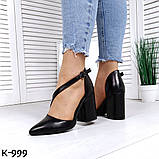 Эффектные, изящные кожаные и замшевые туфли на каблучке, фото 2
