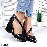 Эффектные, изящные кожаные и замшевые туфли на каблучке, фото 5